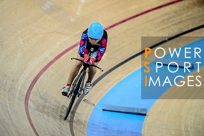Chiu Vivien of R3-Cycling Team during the Indiviual Pursuit Women Qualifying (2 KM) Track Cycling Race 2016-17 Series 3 at the Hong Kong Velodrome on February 4, 2017 in Hong Kong, China. Photo by Marcio Rodrigo Machado / Power Sport Images