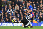 2nd December 2017, Stamford Bridge, London, England; EPL Premier League football, Chelsea versus Newcastle United; Matt Ritchie of Newcastle United tackles Daniel Drinkwater of Chelsea
