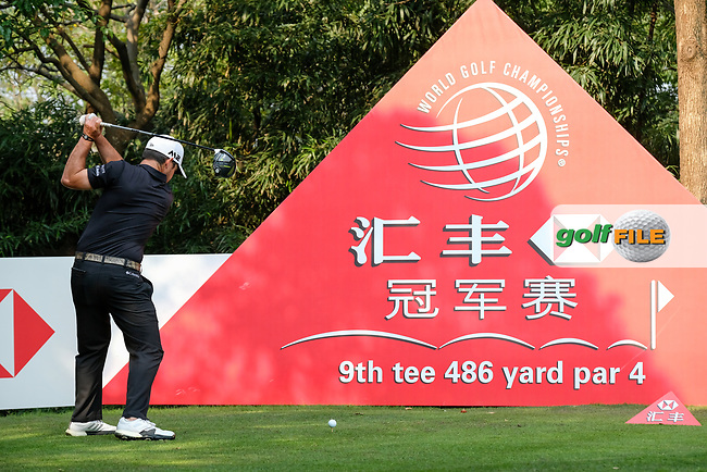 Brian Harman (USA) on the 9th during round 2 of the 2017 WGC HSBC Champions, Sheshan International Golf Club, Shanghai, China PR. 27/10/2017<br /> Picture: Golffile | Fran Caffrey<br /> <br /> <br /> All photo usage must carry mandatory copyright credit (&copy; Golffile | Fran Caffrey)