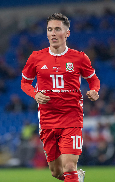 Cardiff - UK - 9th September :<br />Wales v Belarus Friendly match at Cardiff City Stadium.<br />Harry Wilson of Wales.<br />Editorial use only
