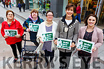 Tralee Access Group launched Make Way Day on Tuesday in the Mall, where they put stickers on cars, wheelie bins, to highlight objects that block disabled access on footpaths. <br /> Front l-r,  Heather Lohan, Aine Murphy, AnnMarie Foley,   Cllr: Norma Foley (Mayor of Kerry) and Aine O&rsquo;Sullivan.