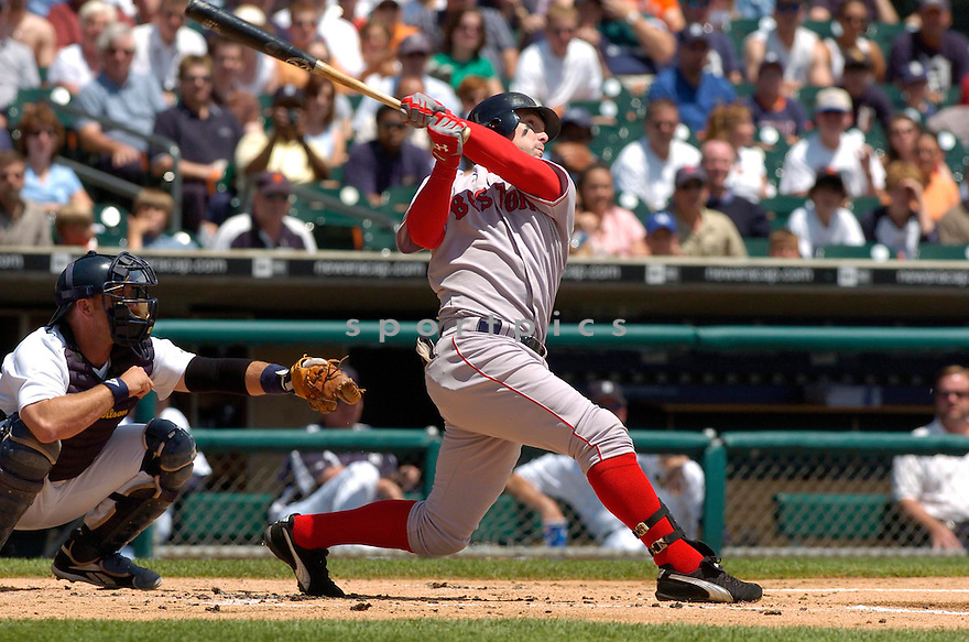 Trot Nixon, of the Boston Red Sox, during their game against the Detroit Tigers on June 6, 2006 in Detroit...Red Sox win8-3...David Durochik / SportPics