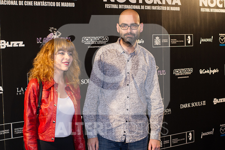 Alicia Montesquieu and Jonh Tones at Nocturna, the international festival of fantastic cinema of Madrid. May 23,2016. (ALTERPHOTOS/Rodrigo Jimenez)