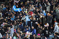 Fans in the terraces during the Super Rugby match between the Chiefs and Jaguares at Rotorua International Stadum in Rotorua, New Zealand on Friday, 4 May 2018. Photo: Dave Lintott / lintottphoto.co.nz