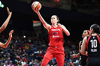 Washington, DC - July 13, 2019: Washington Mystics center Emma Meesseman (33) drives the lane for a lay up during game between Las Vegas Aces and Washington Mystics at the Entertainment & Sports Arena in Washington, DC. The Aces defeated the Mystics 81-85. (Photo by Phil Peters/Media Images International)