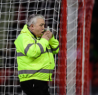 A Sheffield United club steward with an item retrieved by Referee Anthony Taylor from the pitch<br /> <br /> Photographer Chris Vaughan/CameraSport<br /> <br /> The EFL Sky Bet Championship - Sheffield United v Blackburn Rovers - Saturday 29th December 2018 - Bramall Lane - Sheffield<br /> <br /> World Copyright © 2018 CameraSport. All rights reserved. 43 Linden Ave. Countesthorpe. Leicester. England. LE8 5PG - Tel: +44 (0) 116 277 4147 - admin@camerasport.com - www.camerasport.com