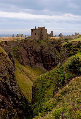 The Castle Dunnottar,Stonehaven, Aberdeenshire, Scotland, is a ruin high on a cliff overlooking the sea.