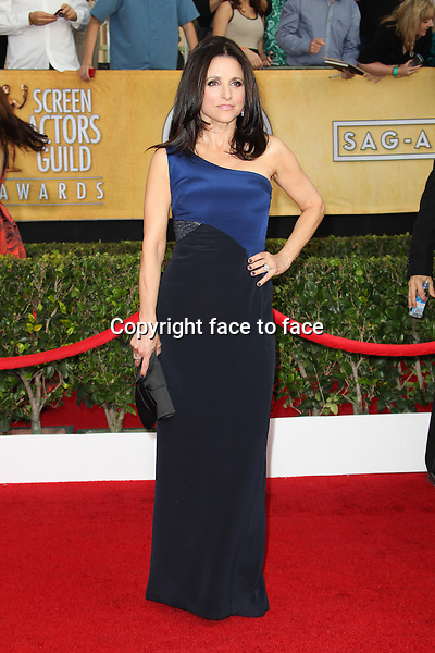 LOS ANGELES, CA - JANUARY 18: Julia Louis-Dreyfus attending the 2014 SAG Awards in Los Angeles, California on January 18, 2014.<br /> Credit: RTNUPA/MediaPunch<br />