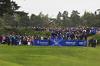 Georgia Hall of Team Europe on the 2nd tee during Day 2 Fourball at the Solheim Cup 2019, Gleneagles Golf CLub, Auchterarder, Perthshire, Scotland. 14/09/2019.<br /> Picture Thos Caffrey / Golffile.ie<br /> <br /> All photo usage must carry mandatory copyright credit (© Golffile | Thos Caffrey)