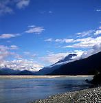 River Dart mountain scenery Glenorchy New Zealand