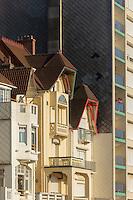 France, Pas-de-Calais (62), côte d'Opale, Le Touquet, Maisons du front de  mer // France, Pas de Calais, Cote d'Opale, Le Touquet, Sea front houses