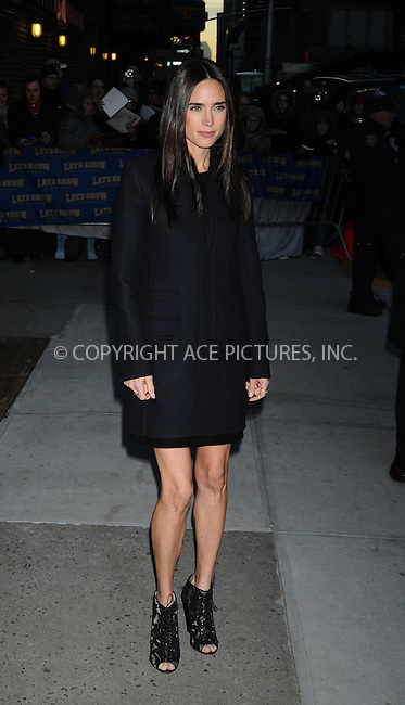 WWW.ACEPIXS.COM . . . . . ....December 8 2008, New York City....Actress Jennifer Connelly at the 'Late Show with David Letterman' at the Ed Sullivan Theater on December 8, 2008 in New York City.....Please byline: AJ SOKALNER - ACEPIXS.COM.. . . . . . ..Ace Pictures, Inc:  ..(646) 769 0430..e-mail: info@acepixs.com..web: http://www.acepixs.com