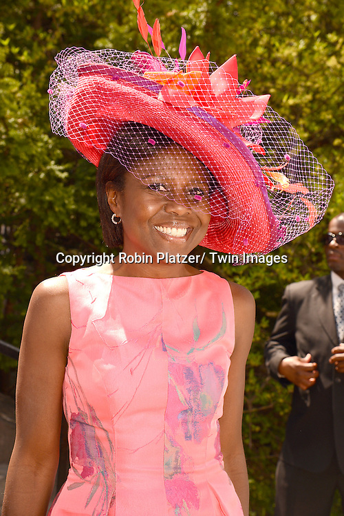 Deborah Roberts attends the 32nd Annual Frederick Law Olmsted Awards Hat Luncheon given by The Central Park Conservancy on May 7,2014 in Central Park in New York City, NY USA.