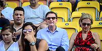 RIO DE JANEIRO, RJ, 05.02.2017 – GIGANTES DA PRAIA – O Prefeito do Rio de Janeiro, Marcelo Crivella, sua esposa Sylvia Jane Hodge Crivella e o Ministro dos Esportes vistos na arquibancada, durante o Desafio de Gigantes da Praia realizado na quadra de central de tênis, no Parque Olímpico da Barra da Tijuca, zona oeste da cidade, na manhã desta domingo, 05. (Foto: Jayson Braga / Brazil Photo Press)