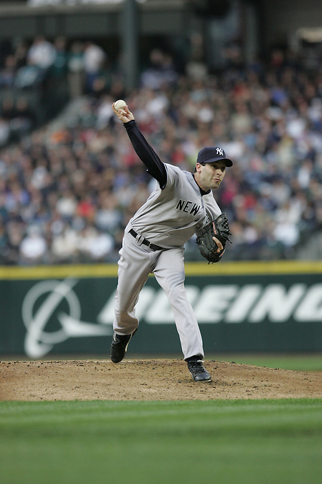 12 May 2007: Yankees rookie pitcher Matt DeSalvo gave up only two runs to the Mariners in the NY Yankees 7-2 win over the Seattle Mariners Seattle at Safeco Park in Seattle, Washington.