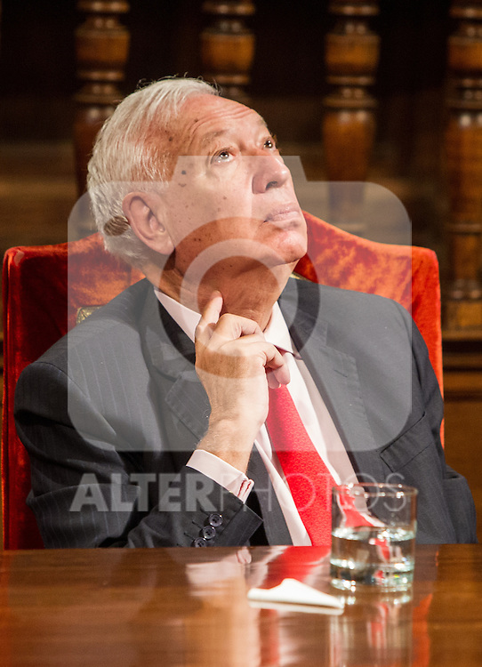 José Manuel García-Margallo during the Quevedos iberoamerican award of grafic humor 2014. May 26,2016. (ALTERPHOTOS/Rodrigo Jimenez)