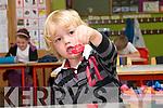 Junior Infant pupil Dónal Ó Laighin starting school at Scoil Mhaolchéadair, An Mhuiríoch.