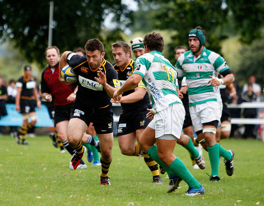 Photo:Richard Lane/ Richard Lane Photography. London Wasps v Treviso Rugby. Pre Season Friendly. 27/08/2011. Wasps' Chris Bell attacks.