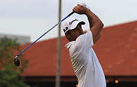 Jyoti Randhawa (IND) in action on the 3rd during Round 1 of the Maybank Championship at the Saujana Golf and Country Club in Kuala Lumpur on Thursday 1st February 2018.<br /> Picture:  Thos Caffrey / www.golffile.ie<br /> <br /> All photo usage must carry mandatory copyright credit (&copy; Golffile | Thos Caffrey)