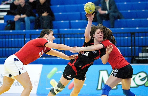 31 MAR 2010 - LONDON, GBR - Great Danes Anne Kandler shoots during the exhibition match against Ruislip Eagles at the National Sports Centre at Crystal Palace (PHOTO (C) NIGEL FARROW)