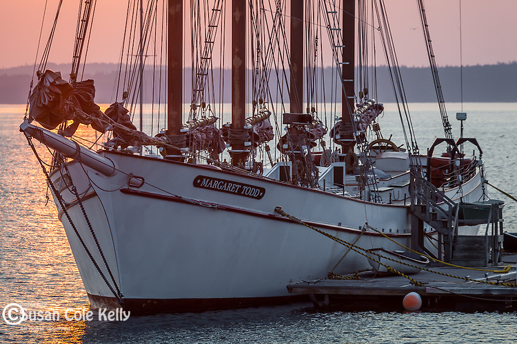The schooner Margaret Todd in Bar Harbor, ME, USA