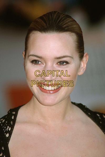 KATE WINSLET..Ref:10403..headshot, portrait, smiling, teeth..www.capitalpictures.com..sales@capitalpictures.com..©Capital Pictures