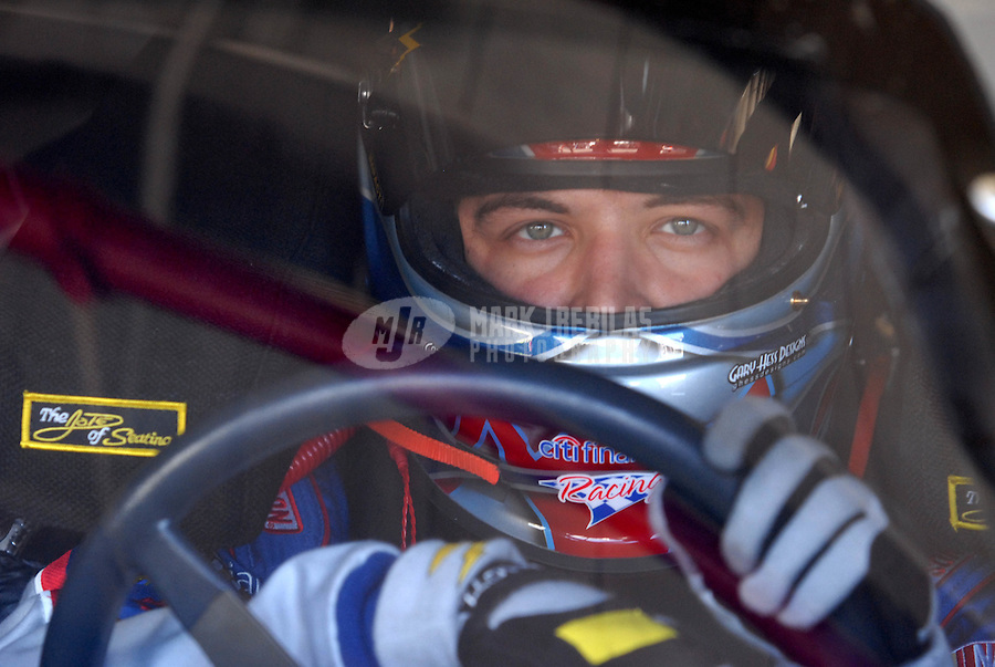 Feb 23, 2007; Fontana, CA, USA; Nascar Busch Series driver Stephen Leicht (90) during practice for the Stater Bros 300 at California Speedway. Mandatory Credit: Mark J. Rebilas.