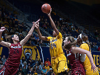Courtney Range of California shoots the ball during the game against Washington State at Haas Pavilion in Berkeley, California on February 27th, 2014.   California defeated Washington State, 75-68.