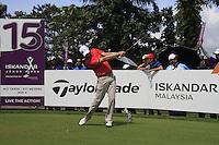 Padraig Harrington (IRL) tees off on the 15th tee during Sundays Final Round 3 of the 54 hole Iskandar Johor Open 2011 at the Horizon Hills Golf Resort Johor, Malaysia, 19th November 2011 (Photo Eoin Clarke/www.golffile.ie)