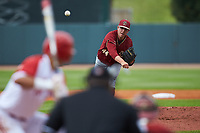 Boston College Eagles starting pitcher Jacob Stevens (44) in action against the North Carolina State Wolfpack in Game Two of the 2017 ACC Baseball Championship at Louisville Slugger Field on May 23, 2017 in Louisville, Kentucky. The Wolfpack defeated the Eagles 6-1. (Brian Westerholt/Four Seam Images)
