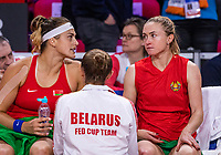The Hague, The Netherlands, Februari 8, 2020,    Sportcampus, FedCup  Netherlands -  Balarus, Doubles: Belarus bench<br /> Photo: Tennisimages/Henk Koster