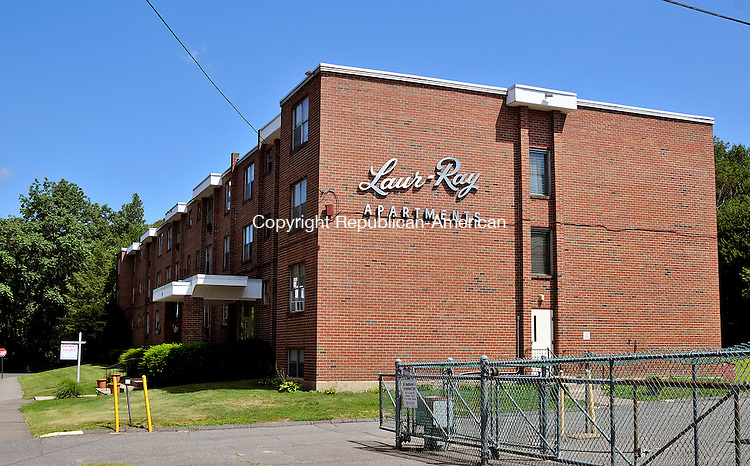 WATERBURY, CT 30 JULY 2013--080213JS07--The apartment building located at 136 Store Avenue in Waterbury. The EPA is proposing a $6.2 million remediation plan for the Superfund site knowns as the former Scovill Industrial Landfill site located off Store Avenue in Waterbury.  <br /> Jim Shannon Republican American