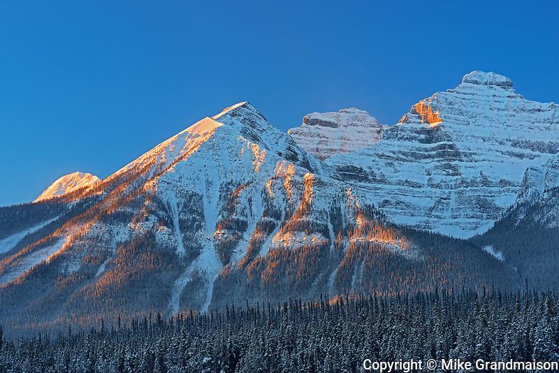 Peaks of the Bow Range, Banff National Park, Alberta, Canada