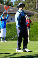 Actor Bill Murray on the 1st tee at Pebble Beach Golf Links during Saturday's Round 3 of the 2017 AT&amp;T Pebble Beach Pro-Am held over 3 courses, Pebble Beach, Spyglass Hill and Monterey Penninsula Country Club, Monterey, California, USA. 11th February 2017.<br /> Picture: Eoin Clarke | Golffile<br /> <br /> <br /> All photos usage must carry mandatory copyright credit (&copy; Golffile | Eoin Clarke)