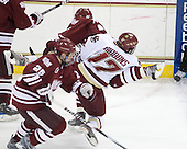 Michael Marcou (UMass - 22), Brian Gibbons (BC - 17) - The Boston College Eagles defeated the University of Massachusetts-Amherst Minutemen 2-1 (OT) on Friday, February 26, 2010, at Conte Forum in Chestnut Hill, Massachusetts.