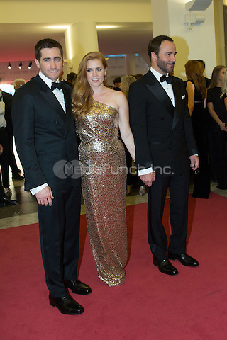 Jake Gyllenhaal, Amy Adams, Tom Ford  at the premiere of Nocturnal Animals at the 2016 Venice Film Festival.<br /> September 2, 2016  Venice, Italy<br /> CAP/KA<br /> &copy;Kristina Afanasyeva/Capital Pictures /MediaPunch ***NORTH AND SOUTH AMERICAS ONLY***