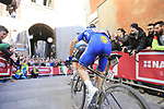 Julian Alaphilippe (FRA) Deceuninck-Quick Step climbs Via Santa Caterina in Siena in the last km of Strade Bianche 2019 running 184km from Siena to Siena, held over the white gravel roads of Tuscany, Italy. 9th March 2019.<br /> Picture: Eoin Clarke | Cyclefile<br /> <br /> <br /> All photos usage must carry mandatory copyright credit (&copy; Cyclefile | Eoin Clarke)