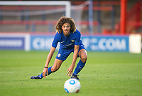 Ethan Ampadu of Chelsea U23 during the pre season friendly match between Aldershot Town and Chelsea U23 at the EBB Stadium, Aldershot, England on 19 July 2017. Photo by Andy Rowland / PRiME Media Images.