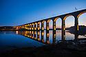 Royal Border Bridge on the River Tweed, Berwick upon Tweed, Northumberland, UK.
