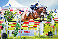 NZL-Samantha Felton rides Ricker Ridge Escada during the Honda New Zealand CCI3* Showjumping (Final-2ND). 2016 NZL-Puhinui International 3 Day Event. Puhinui Reserve, Auckland. Sunday 11 December. Copyright Photo: Libby Law Photography