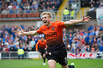 Dundee United v St Johnstone...24.08.13      SPFL<br /> Stuart Armstrong celebrates his goal<br /> Picture by Graeme Hart.<br /> Copyright Perthshire Picture Agency<br /> Tel: 01738 623350  Mobile: 07990 594431