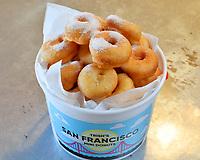 Trish's Mini Donuts Menu Shoot San Francisco.  Bay Area restaurant photography by Luke George 2018.  More info at https://www.trishsdishesfoods.com/trishsminidonuts