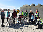Tanisha Bradley, Caroline Leech, Hazel Spearman, Peter O'Callaghan, Jane O'Callaghan, Betty Kelly, Margaret Dagg, Winifred Floyd, Ruby Kelly and Marita Synowzik at the sponsored dog walk in aid of Guide Dogs For The Blind on Termonfeckin beach. Photo:Colin Bell/pressphotos.ie