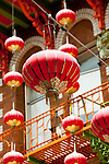 San Francisco: Lanterns in Chinatown Grant Avenue.  Photo copyright Lee Foster. Photo # casanf104307