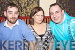 Supporters of Killeedy Camogie Club pictured last friday in The Devonn Inn, Templeglantine for their Annual GAA Social l-r, Hugh Reidy, Debra Lynch and Paul Lynch.