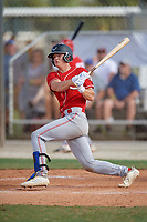 Mac Horvath (33) during the WWBA World Championship at the Roger Dean Complex on October 10, 2019 in Jupiter, Florida.  Mac Horvath attends IMG Academy in Bradenton, FL, is from Rochester, MN and is committed to North Carolina.  (Mike Janes/Four Seam Images)