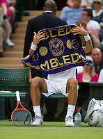 29-06-13, England, London,  AELTC, Wimbledon, Tennis, Wimbledon 2013, Day six, Jeremy Chardy (FRA)<br /> <br /> <br /> <br /> Photo: Henk Koster
