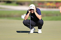 Tommy Fleetwood (ENG) on the 17th green during Friday's Round 2 of the 2018 Turkish Airlines Open hosted by Regnum Carya Golf &amp; Spa Resort, Antalya, Turkey. 2nd November 2018.<br /> Picture: Eoin Clarke | Golffile<br /> <br /> <br /> All photos usage must carry mandatory copyright credit (&copy; Golffile | Eoin Clarke)
