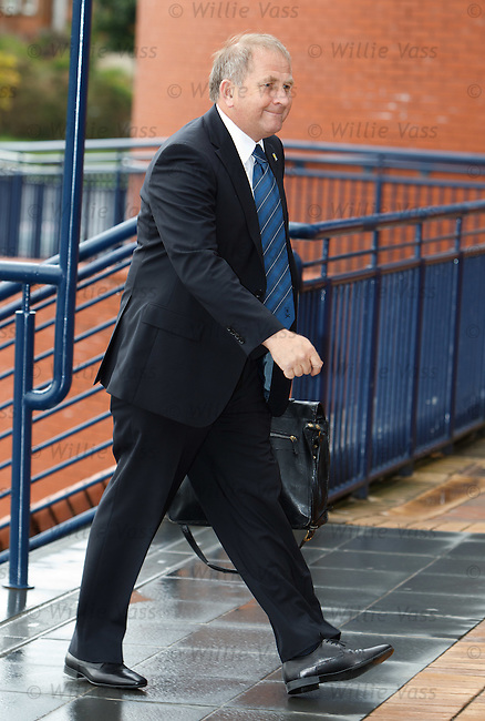 Alan McRae SFA vice-president arrives for the SFA AGM this morning