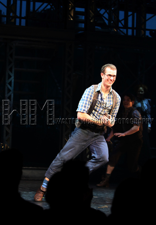 Ryan Steele.during the 'NEWSIES' Opening Night Curtain Call at the Nederlander Theatre in New York on 3/29/2012